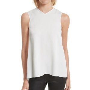 Helmut Lang White Knotted Back Tank